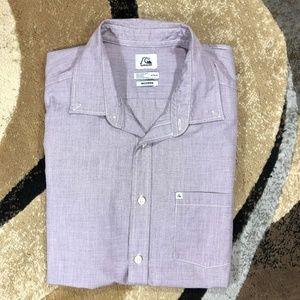 Men's Purple Quicksilver Short Sleeved Shirt, Med